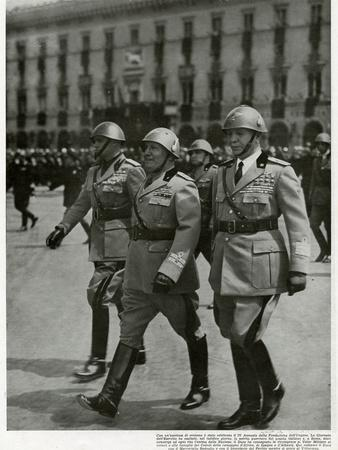 Mussolini, on Parade 1940