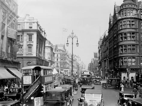 London City Vintage Scene Oxford Street Wall Picture Canvas Prints Art Cheap