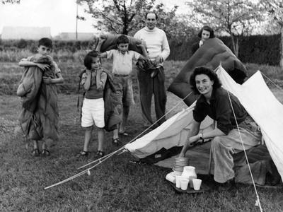 Camping Family 1950S