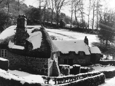 Snowy Thatched Cottages