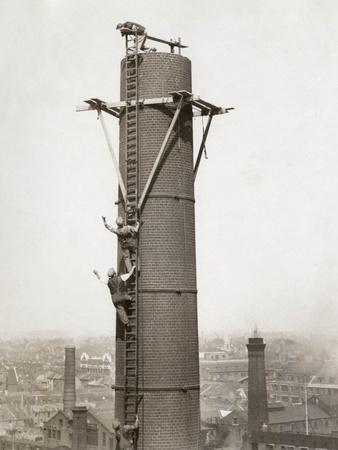 Climbing Factory Chimney