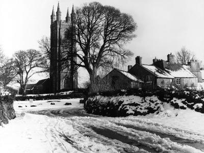 Snowy English Village