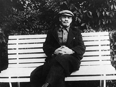 Lenin Sits on a Bench