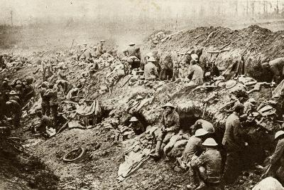 Somme Troops Keep in Reserve Counter Attack WWI