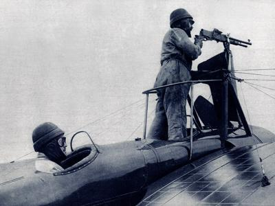 WW1 - French Monoplane Armoured and Armed with Machine Gun