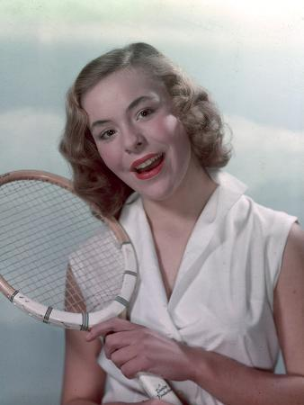 Pin-Up with Racquet