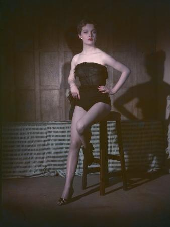Pin-Up on Stool, 1950
