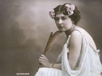 Hortense Schneider French Soprano Singer Who Appeared in Many of Offenbach's Operettas