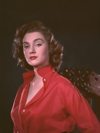 Girl in Red Shirt 1950s