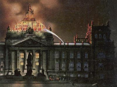 The Reichstag Destroyed by Fire