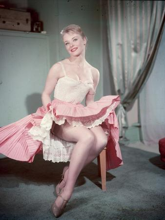 Pin-Up in Pink Skirt