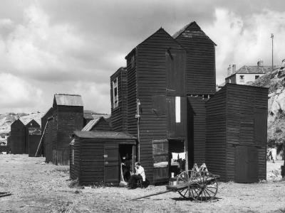 Clustered on the Shingle of the Old Town of Hastings Sussex are These Tall Black Huts