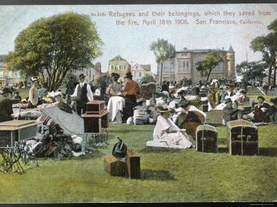 San Francisco, Refugees and Their Belongings Which They Saved from the Fire April 18th 1906