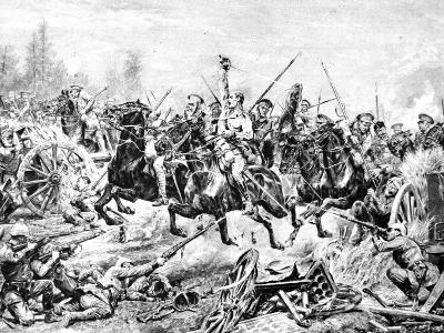 The Charge of the 9th Lancers at a German Battery Near Mons