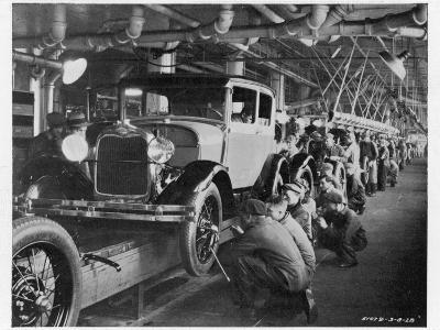 The Ford Assembly Line in 1928
