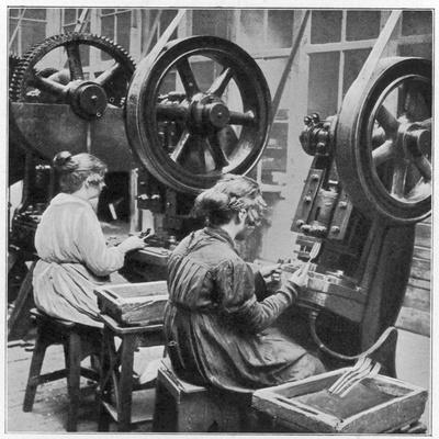 Women Making Table Forks at the Souete Generale De Coutellerie, France