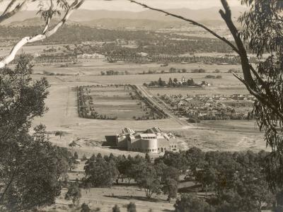 A View from Mount Ainslie, Canberra, Act, Australia 1930s