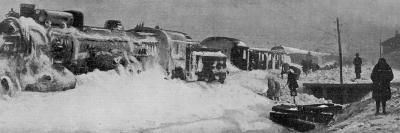 Attempts to Dig out the Simplon Orient Express Snowbound 80 Km from Constantinople