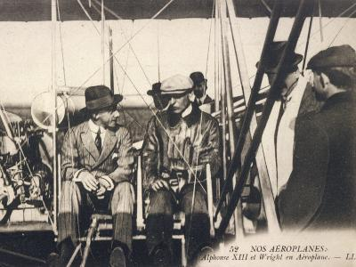 Wilbur Wright Shows His Plane to Alfonso XIII of Spain at the Ecole d'Aviation Pau France