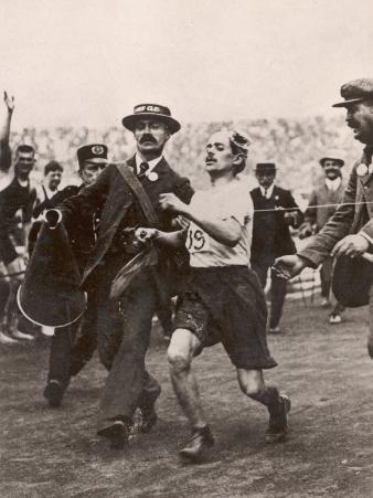 Pietri Dorando of Italy Wins the Marathon from Windsor to the Olympic Stadium