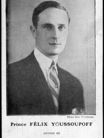 Prince Felix Youssoupoff Russian Aristocrat Who Killed Rasputin in 1916