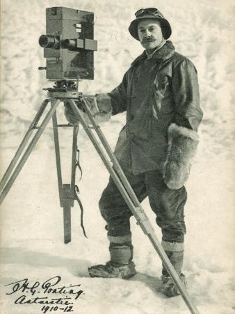 Herbert Ponting with His Camera in the Antarctic