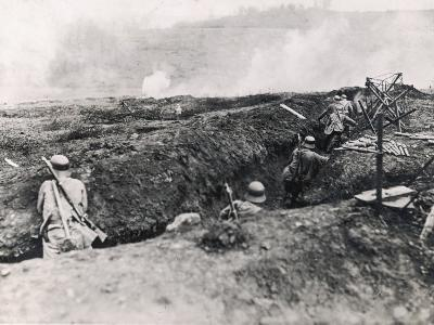 Action on the Western Front Photographed from German Trenches