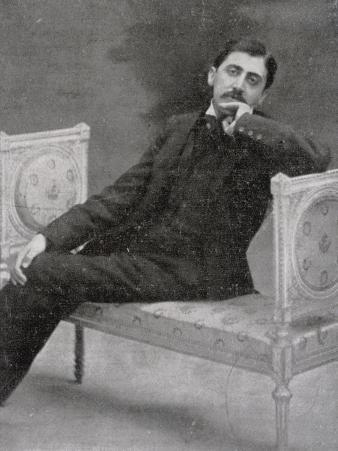 Marcel Proust French Writer Relaxing on an Ornate Sofa