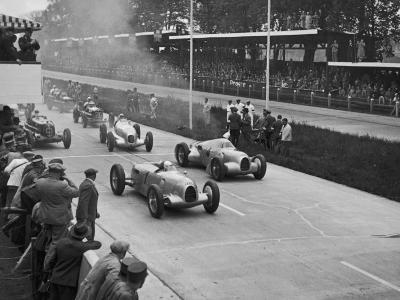 The German Grand Prix Won by Nuvolari Driving a Modified Alfa P.3