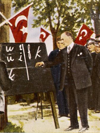 Kemel Ataturk Introduces Language Reform