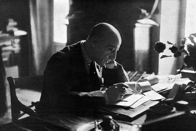 D'Annunzio in His Study