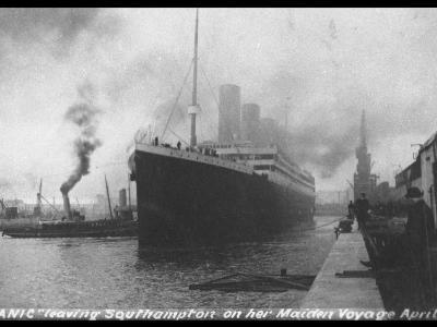 Titanic Departing from Southampton