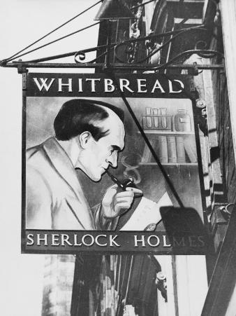 The Inn Sign for 'the Sherlock Holmes' Pub in Baker Street, Central London, England