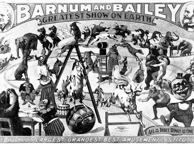 Advertisement for Barnum and Bailey's Circus, 1897