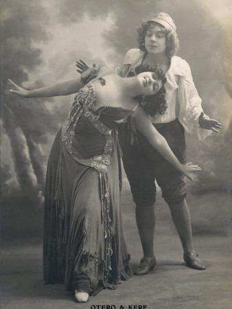 Carolina Otero Spanish Actress and Dancer with Kerf in 'Giska La Bohemienne'