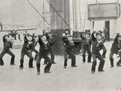 Cutlass Exercise, Training Ship Wellesley, North Shields