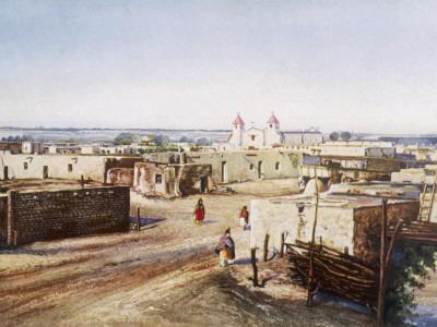 Native American Homes in Pueblo of Isleta, New Mexico