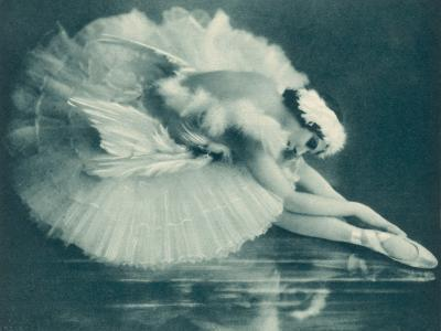 Anna Pavlova (1881-1931) Russian Ballet Dancer Photographed Here in Swan Lake in 1920