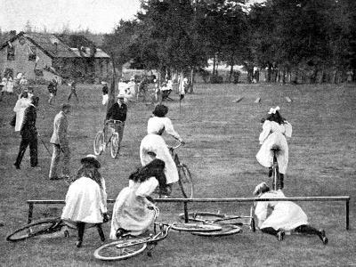 Bicycle Obstacle Race for Girls, 1898