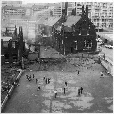 Children Playing in a Playground in Sheffield
