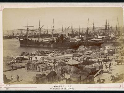 A View of the Docks at Marseille - Full of Sacks and Barrels