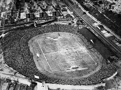 Aerial View of the F.A. Cup Final at Stamford Bridge, 1922