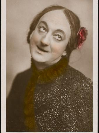 Little Tich (Harry Relph) Music Hall Entertainer with a Flower in His Hair