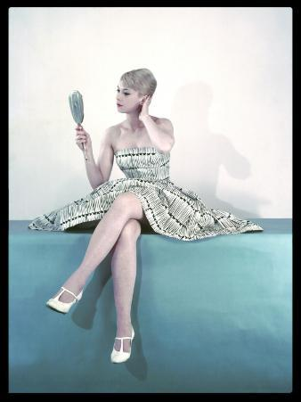 Fifties Woman and Mirror