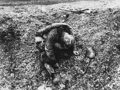 French Soldier at the Battle of Verdun on the French Front During World War I in 1916