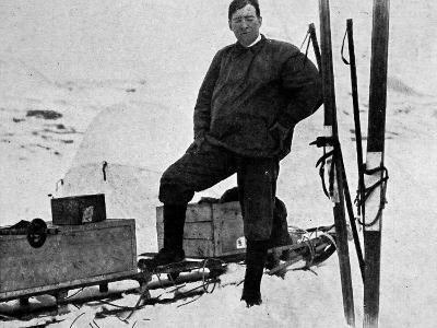 Ernest Shackleton Preparing for a Trans-Antarctic Expedition
