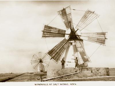 Aden - Yemen - Windmills at the Salt Works