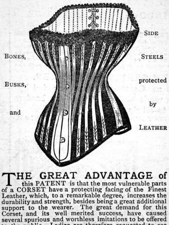 An Advertisement for Brown's Patent Dermathistic Corset