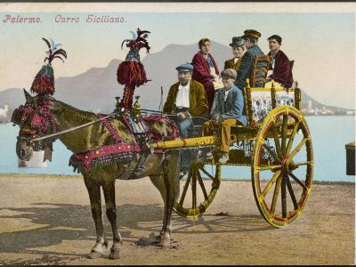 A Family Party in their Carriage at Palermo, Sicily