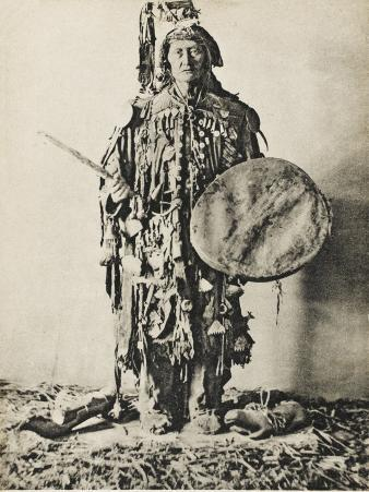 A Shaman of the Tunguska Region, Northern Russia, in Traditional Costume